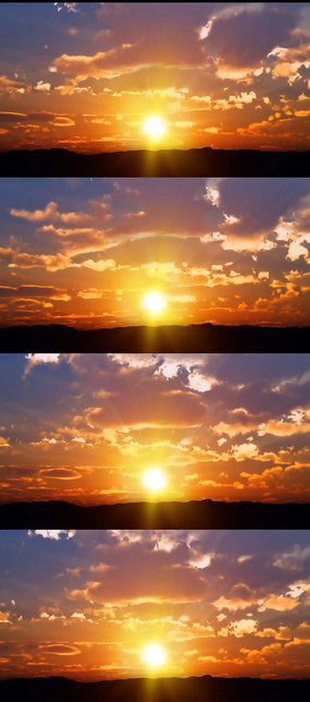 日出日落云实拍视频素材