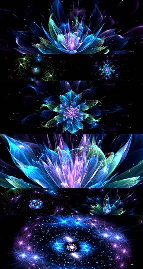 唯美粒子梦幻花朵绽放led视频背景