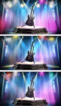校园歌手大赛音乐舞台吉他背景