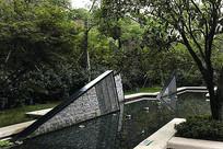 创意几何装饰水景