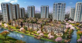 创意绿化小区住宅建筑模型