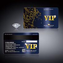 简约蓝金色VIP会员卡 PSD