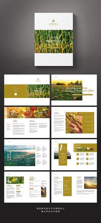 简约农业科技品牌宣传画册