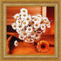 菊花花卉高清油画