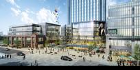 商业街街面建筑效果图