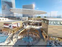 商业街时尚广场创意建筑效果图