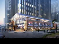 商业楼建筑夜景效果图