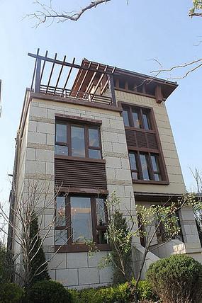 现代别墅建筑立面造型
