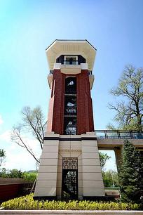 现代小区景观塔楼