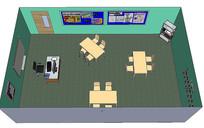 现代幼儿园教室场景