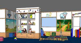 现代幼儿园教室场景设计