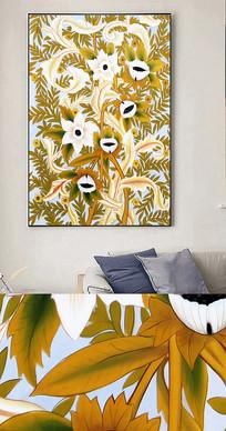 新中式手绘植物花香装饰画
