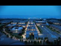 夜景建筑透视效果图