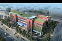 医院建筑鸟瞰效果图