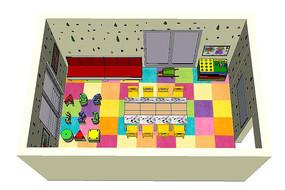 幼儿园活动教室场景