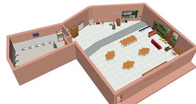 幼儿园教室场景 模型