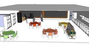幼儿园教室场景模型