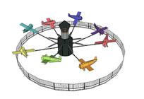 游乐场儿童小飞机设施