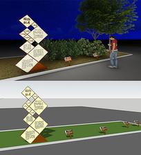 植物标识牌宣传造型含效果图