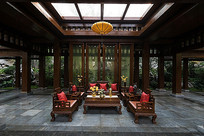 中庭古风沙发家具