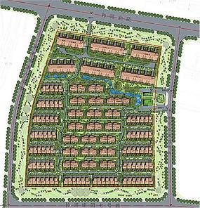 住宅小区整体彩色平面图
