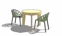 竹子座椅组合