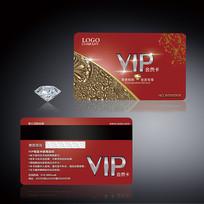尊贵红金色VIP会员卡