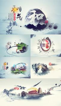 大气水墨中国文化AE片头模板