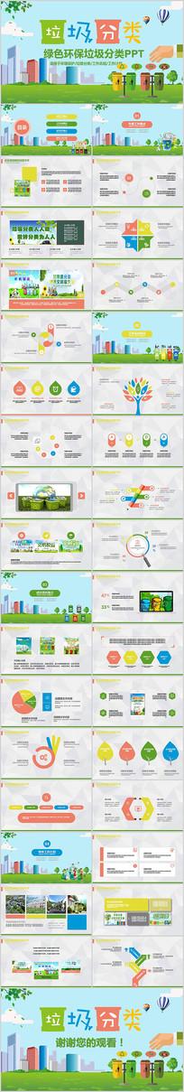 低碳环保垃圾分类PPT模板