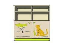 动物印花儿童储物架