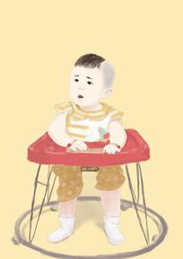 回忆童年插画 PSD