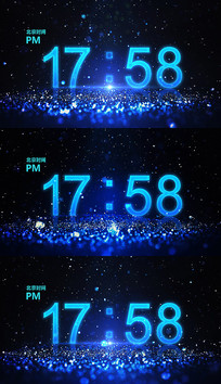 时钟时间AE视频模板