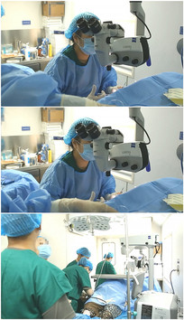 医生护士戴口罩准备做手术视频