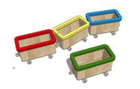 幼儿置物小火车模型