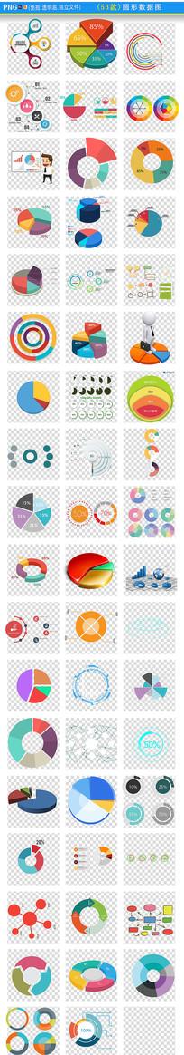 圆形数据图PNG素材