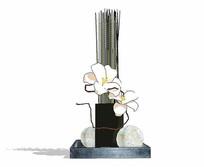 花卉插画花瓶