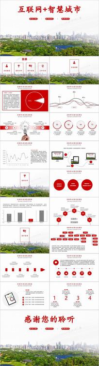 互联网智慧城市介绍PPT模板