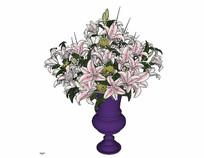 欧式百合花瓶