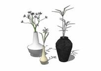 三个花瓶模型