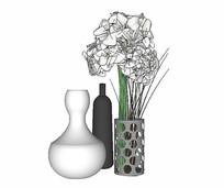 现代装饰花瓶模型
