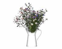 小菊花花束花瓶