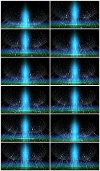 4k梦幻粒子雨空间光线视频