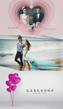 超韩式唯美大图婚礼相册ae模板