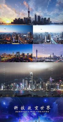 城市连线AE模板动态视频