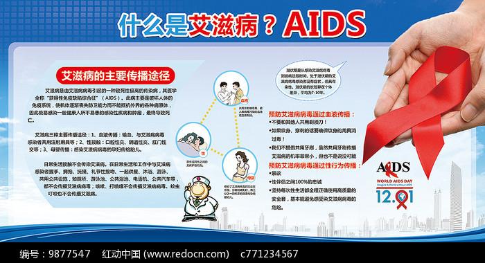 国际艾滋病日预防艾滋病展板图片