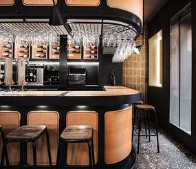 黑色木头元素酒吧意向