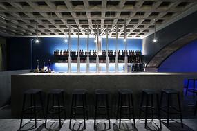 混凝土啤酒餐厅吧台意向