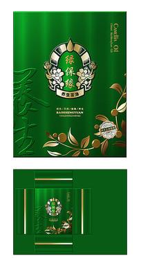 绿色养生茶油包装