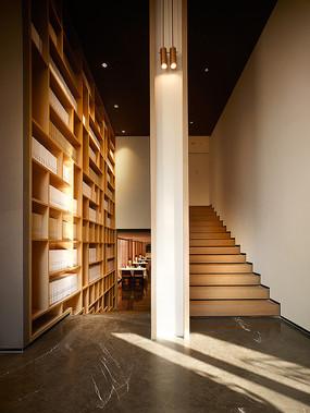 三角红砖餐厅建筑楼梯意向 JPG