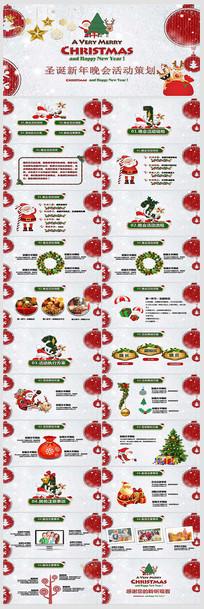 圣诞节晚会活动策划PPT模板